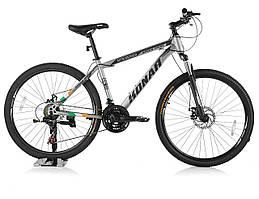 """Велосипед KONAR KA-26""""17, стальная рама 17, колеса 26 дюймов, серый"""