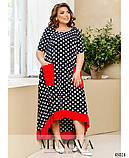 Оригинальное платье батал большого размера 50-52, 54-56, 58-60, 62-64, фото 3
