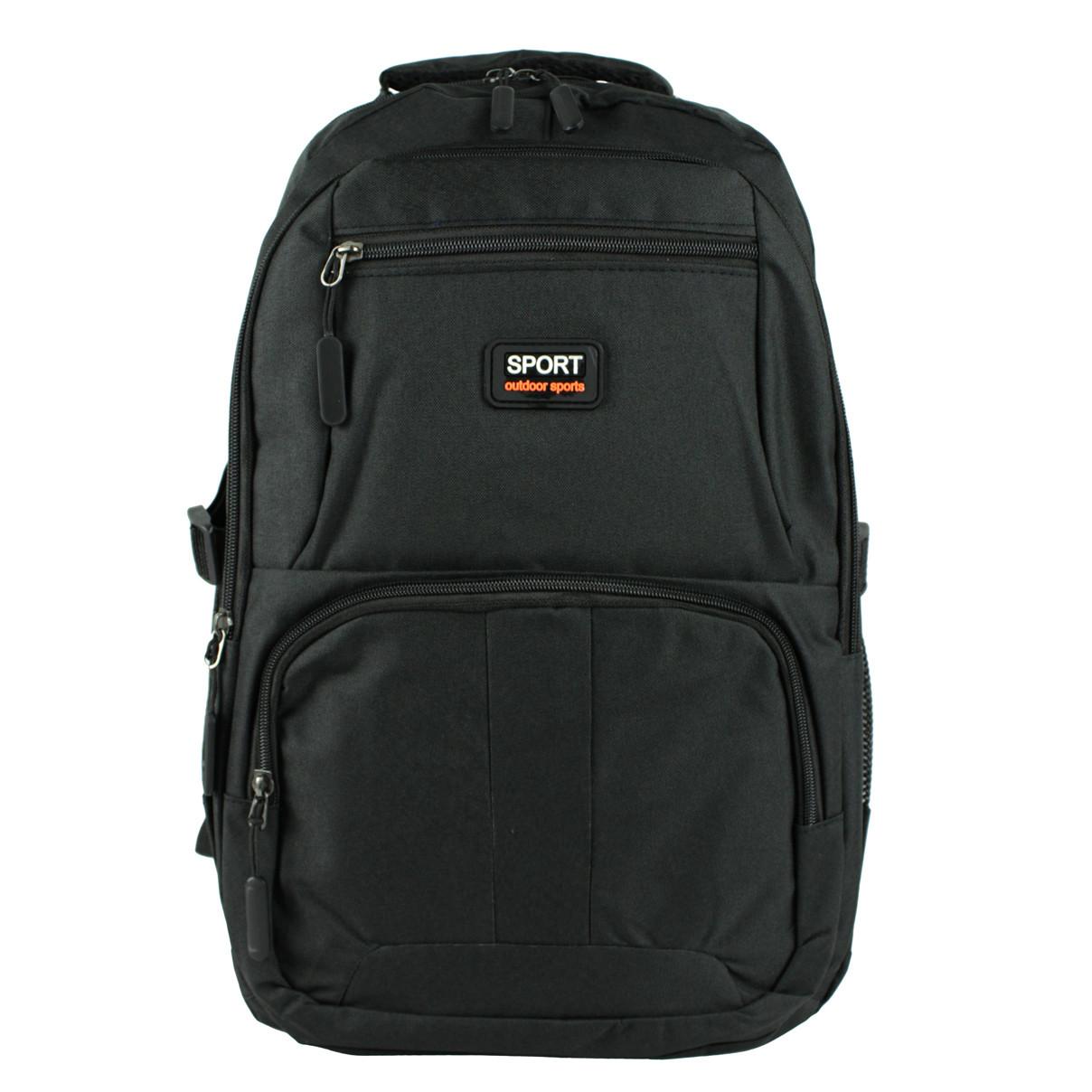 Рюкзак міський sport повсякденний тканинний чорний