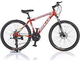 """Велосипед KONAR KA-26""""17, стальная рама 17, колеса 26 дюймов, красный"""
