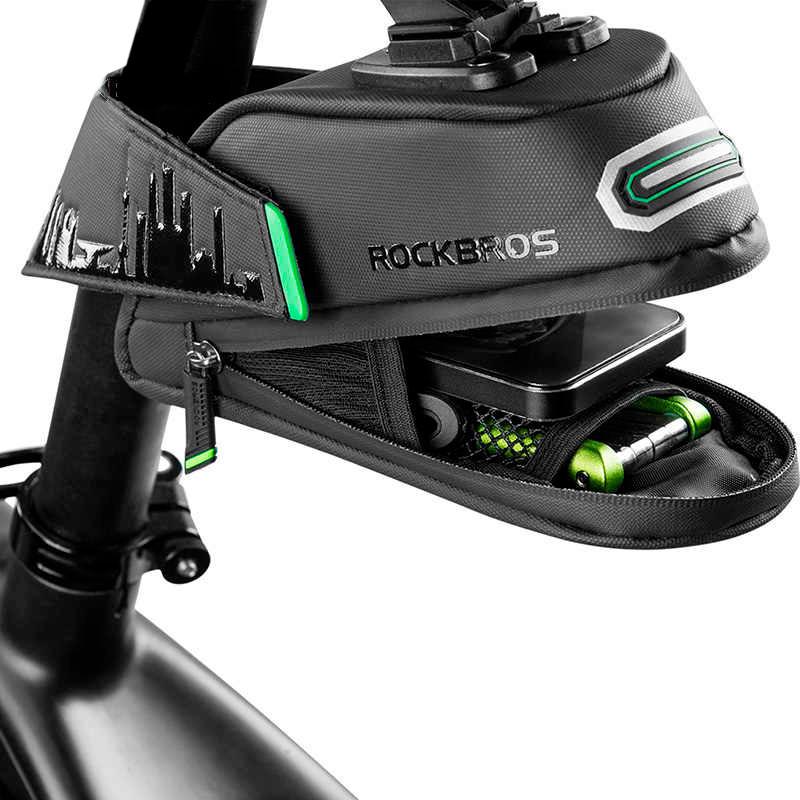 """Велосумка подседельная """"Rockbros"""", Черная сумка для велосипеда, сумка для телефона под седло велосипеда (ST)"""