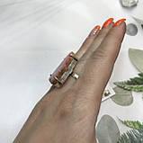 Агат срез 18,3 р. агатовая жеода кольцо с камнем жеода агата в серебре Индия, фото 6