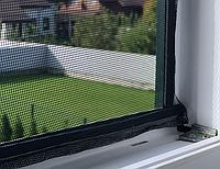 Москітна сітка для вікон MVM клеюча 1500х900 WN-1500 чорна