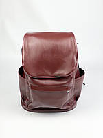 Жіночий бордовий великий рюкзак міський