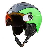 Шлем горнолыжный с визором и механизмом регулировки MOON (PC, в наличии только p-p M/55-58см)