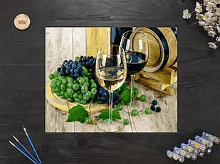 "Картина по номерам ""Вино и виноград"" 40х50 см"