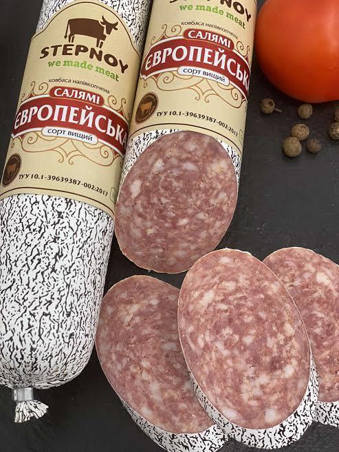 Ковбаса Салямі Європейська н/к в/г 1кг Степний
