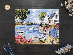 "Картина по номерам ""Домик у озера"" 40х50 см"