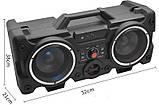 Портативный Бумбокс колонка Leisound partybox c радиомикрофоном (80W/USB/BT/FM/), фото 2
