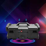 Портативний Бумбокс колонка Leisound partybox c радіомікрофоном (80W/USB/BT/FM/), фото 3