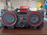 Портативний Бумбокс колонка Leisound partybox c радіомікрофоном (80W/USB/BT/FM/), фото 4