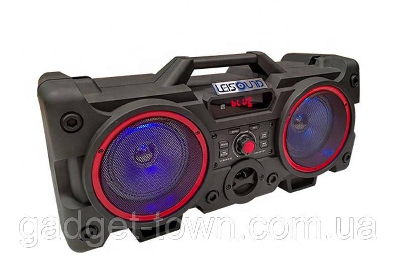 Портативный Бумбокс колонка Leisound partybox c радиомикрофоном (80W/USB/BT/FM/)