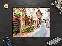 """Картина по номерам """"Цветущая улица"""" 40х50 см"""
