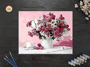 "Картина по номерам ""Хризантемы в вазе"" 40х50 см"