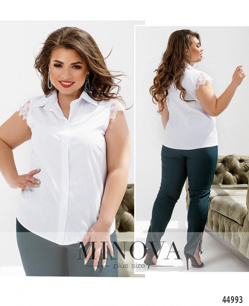 Ніжна блузка великого розміру з мереживним великого розміру : 48,50,52