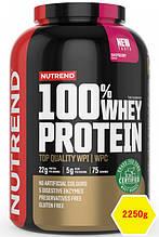 Сывороточный протеин Nutrend 100% WHEY PROTEIN 2250g малина