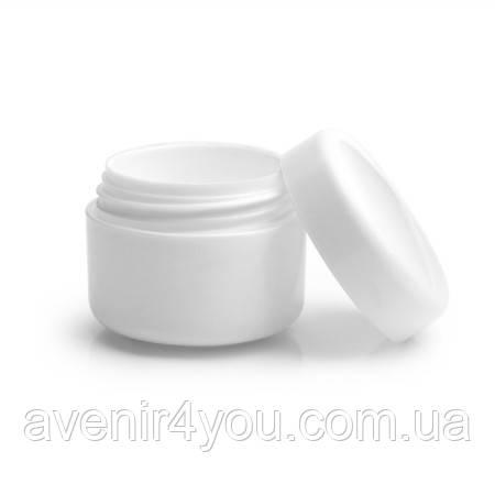 Баночка пластикова Біла 15 мл Тара для гелю, косметики