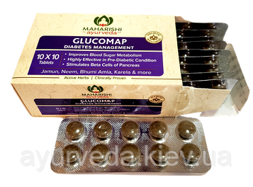 Глюкомап, диабет, снижение сахара, АНТИДИАБЕТИК, Glucomap 100 таб.