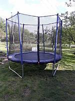 Батут 252 см с защитной сеткой для детей и взрослых домашний уличный, фото 1