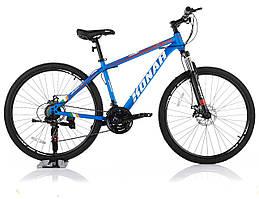 """Велосипед KONAR KA-27.5""""17, стальная рама 17, колеса 26 дюймов, синий"""