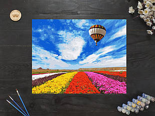 """Картина по номерам """"Поля тюльпанов в Голландии"""" 40х50 см"""