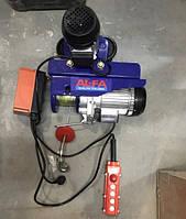 Тельфер з кареткой AL-FA ALEH800TR+ пульт проводной + радио лебедка с передвижным механизмом