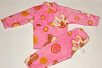 Пижама махровая на девочку 28 р розовая пони.