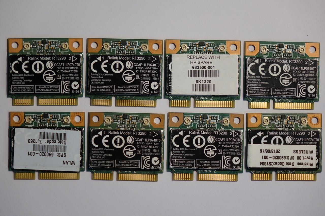 Wi-Fi Адаптер Ralink RT3290+Bluetooth Модуль Сетевая карта (690020-001, 689215-001) 802.11 b,g,n 150Mbps, БУ