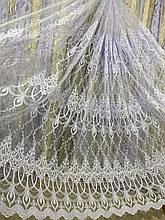 Красивая гардина с люрексовой крученой нитью №116163