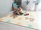 ОПТ Детский развивающий термоковрик складной двухсторонний 150×180см, коврик складной для ползания, фото 6
