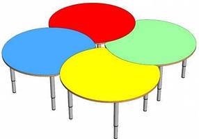 Комплект детских игровых столов Луна. W4