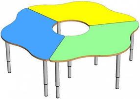 Комплект детских игровых столов Ромашка. W5