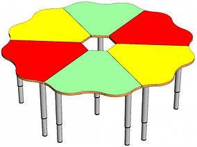 Комплект детских игровых столов Ромашка. W7