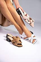 Женские босоножки шлепанцы с квадратным носком на небольшом каблуке