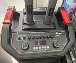 Колонка акумуляторна з радіомікрофонами ZXX-6666 (FM/USB/BT/200W), фото 2