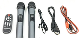 Колонка аккумуляторная с радиомикрофонами ZXX-6666 (FM/USB/BT/200W), фото 3