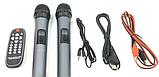 Колонка акумуляторна з радіомікрофонами ZXX-6666 (FM/USB/BT/200W), фото 3