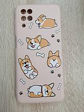 Чехол для Samsung A12 Dog Lihght Pink
