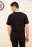 Футболка чоловіча 154R0041 колір Чорний, фото 4