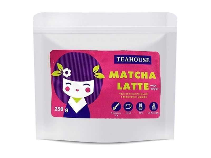 Чай Teahouse (Тиахаус) Матча латте (с сахаром) 250 г (Tea Teahouse Matcha latte (with sugar) 250 g)