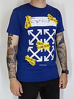 Мужская футболка в синем цвете размер L