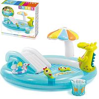 Дитячий ігровий надувний центр 57165 з ремкомплект, дитячий басейн, басейн надувний з гіркою