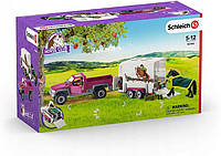 Schleich 42346 игровой набор полуприцеп пикап с лошадью и прицепом
