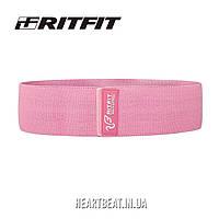 Резинка для фитнеса тканевая RitFit Pink (среднее сопротивление)