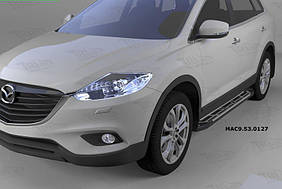 Mazda CX-9 2007-2016 рр. Бічні пороги Sunrise (2 шт., алюміній)