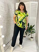 Брючный костюм женский большой размер р. 50-64 Лимончело, фото 1