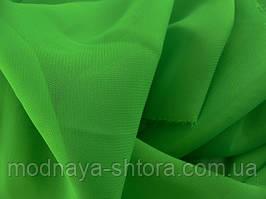 Шифон (вуаль) однотонный зеленый