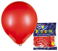 Воздушные шарики Pelican 10(26 см) пастель красные, 50 шт, арт.1050-837