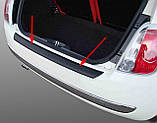 Пластиковая защитная накладка на задний бампер для Fiat 500 10.2007-6.2015, фото 7