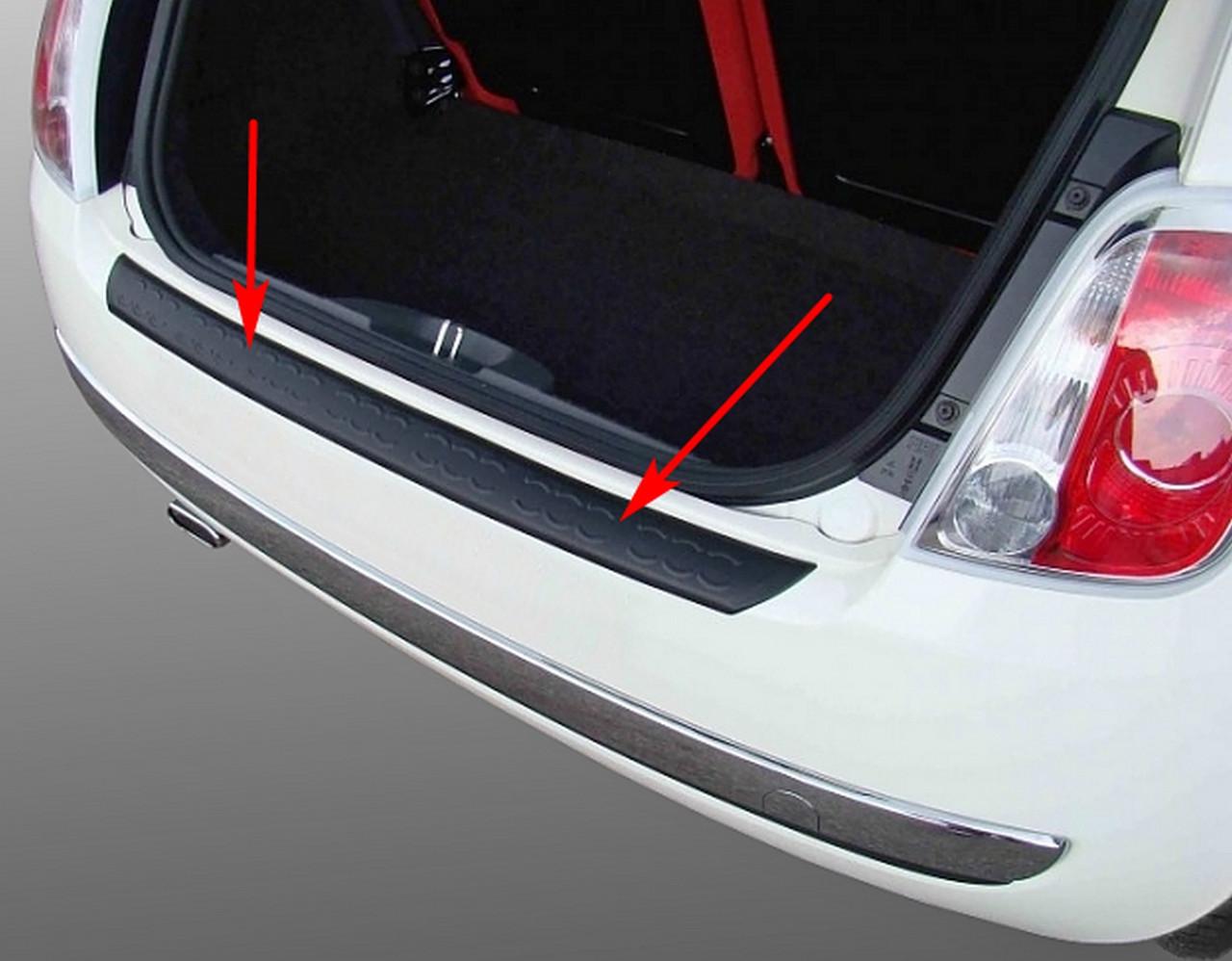 Пластикова захисна накладка на задній бампер для Fiat 500 10.2007-6.2015, фото 7